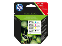 C2P42AE - HP 932XL/933XL Combo Pack - 4-pack - High Yield - black, yellow, cyan, magenta - original - Officejet - ink cartridge - for Officejet 6100, 6600 H711a, 6700, 7110, 7510, 7610, 7612 C2P42AE