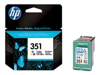 CB337EE#UUS - HP 351 - 3.5 ml - colour (cyan, magenta, yellow) - original - ink cartridge - for Officejet J6415; Photosmart C4382, C4384, C4450, C4470, C4472, C4524, C4585, C5225, C5288 CB337EE#UUS