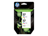 C9503AE - HP 57 - 2-pack - 17 ml - colour (cyan, magenta, yellow) - original - ink cartridge - for Officejet 41XX, 42XX, 55XX, 5605; Photosmart 74XX, 77XX, 7960; psc 12XX, 13XX, 21XX, 2410 C9503AE