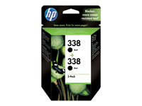 CB331EE - HP 338 - 2-pack - 11 ml - black - original - ink cartridge - for Officejet H470, K7100, K7103; Photosmart 26XX, C3110, C3125, C3173, C3175, C3193, C3194 CB331EE