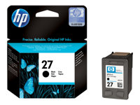 C8727AE#UUQ - HP 27 - Black - original - blister with electromagnetic alarm - ink cartridge - for Deskjet 36XX, 56XX; Fax 12XX; Officejet 42XX, 43XX, 56XX, J5508, J5520; psc 12XX, 13XX C8727AE#UUQ
